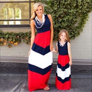 Mother/Daughter matching chevron maxis